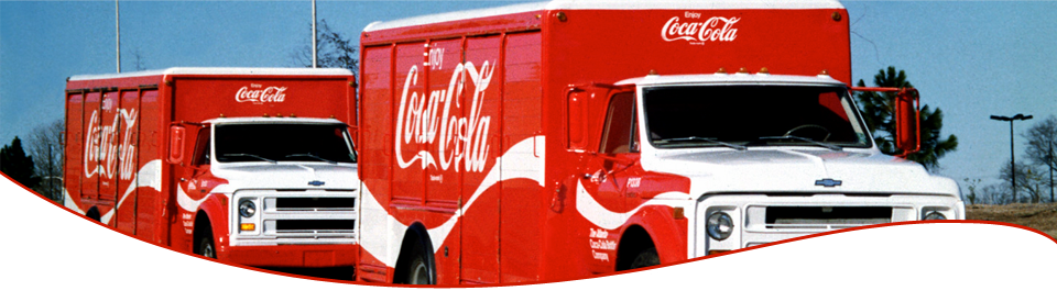 Coca Cola delivery trucks in northern New Mexico